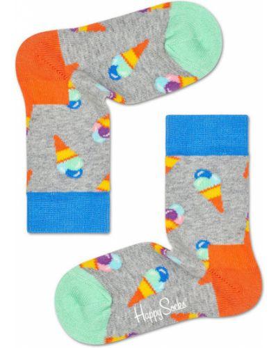 Колготы бежевые Happy Socks