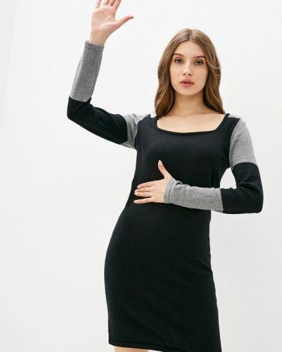 Вязаное черное платье Giorgio Di Mare