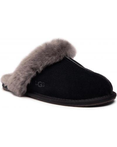 Sandały zamszowe - czarne Ugg
