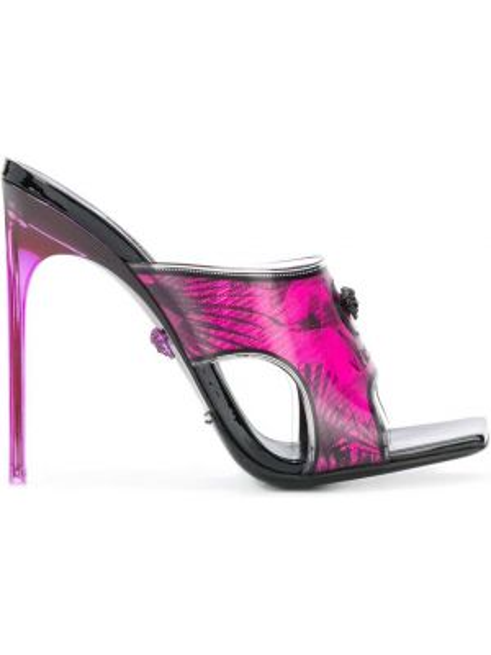 Sandały skórzany czarne Versace