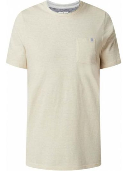 Beżowa t-shirt w paski Tom Tailor