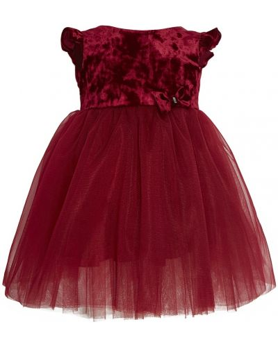 Платье с рукавами бархатное красный Balloon And Butterfly