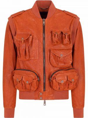 Оранжевая куртка с манжетами Dolce & Gabbana