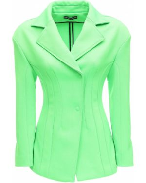 Трикотажная зеленая куртка с отворотом Kwaidan Editions