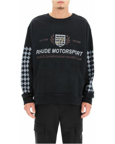 Czarna bluza dresowa Rhude