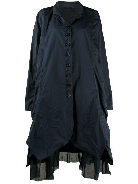 С рукавами синяя длинная куртка оверсайз Rundholz