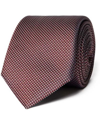 Krawat z jedwabiu Boss