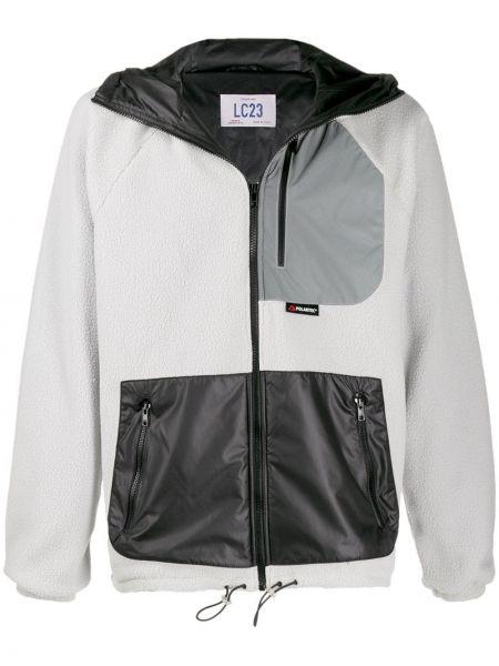 Czarna kurtka z kapturem z długimi rękawami Lc23