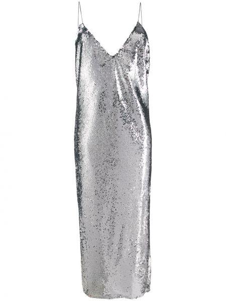 Платье миди с открытой спиной с пайетками Stella Mccartney