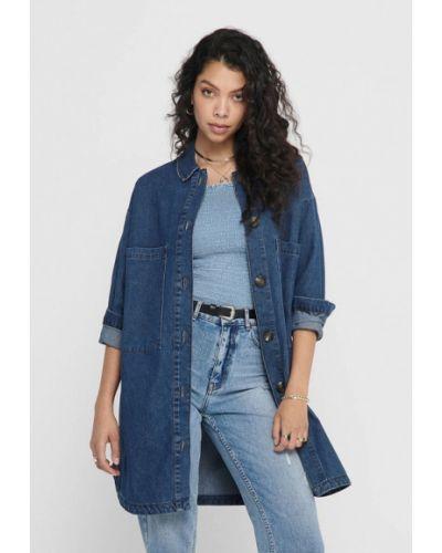 Синяя джинсовая рубашка Jacqueline De Yong