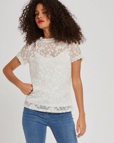 Белая ажурная блузка Morgan