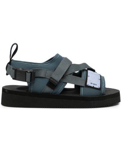 Czarne sandały na obcasie Mcq