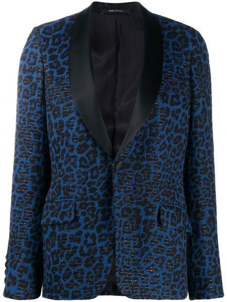 Черный пиджак с карманами из вискозы с лацканами R13