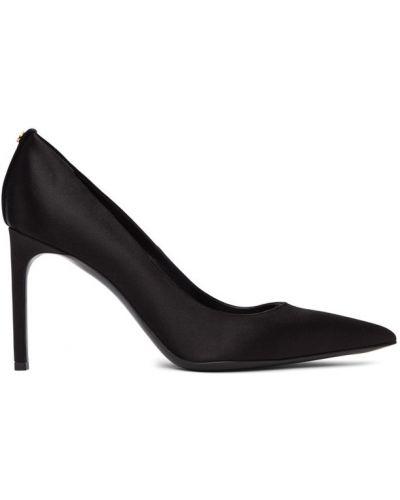 Черные кожаные туфли-лодочки на каблуке Tom Ford