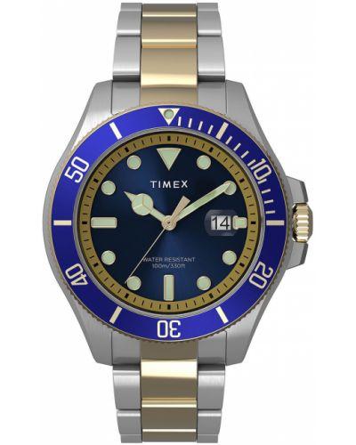 Niebieski zegarek kwarcowy Timex