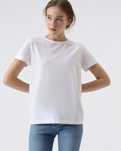 Белая футболка с короткими рукавами Lime