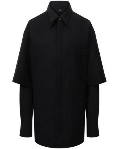 Рубашка с длинным рукавом - черная Y`s