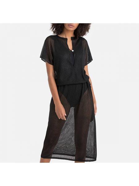 Платье мини миди с V-образным вырезом La Redoute