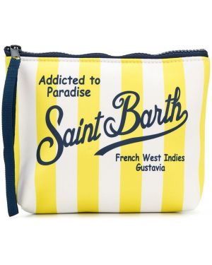 С ремешком белая сумка на молнии из неопрена Mc2 Saint Barth Kids