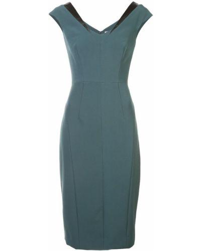 Платье мини с вырезом зеленый Milly