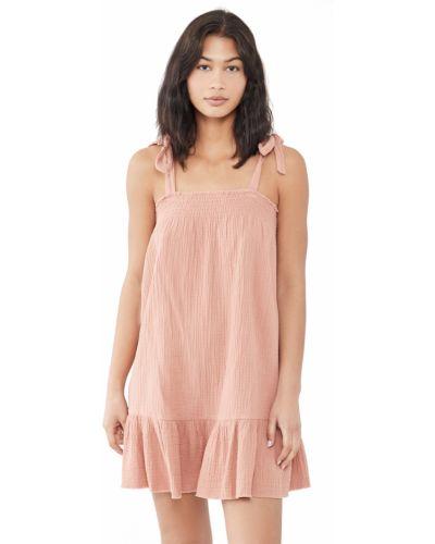 Хлопковое с ремешком платье с декольте Minkpink