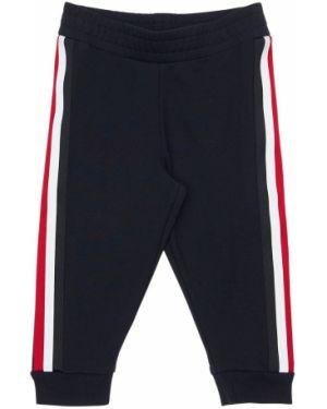 Spodnie na gumce trykotowy z mankietami Moncler