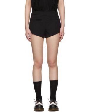Короткие шорты черные с завышенной талией Shushu/tong
