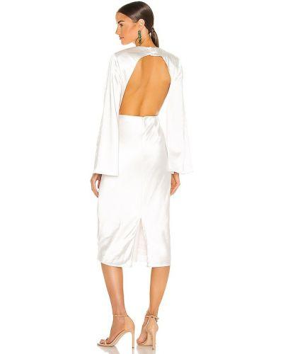 Свободное бежевое деловое платье миди Elliatt