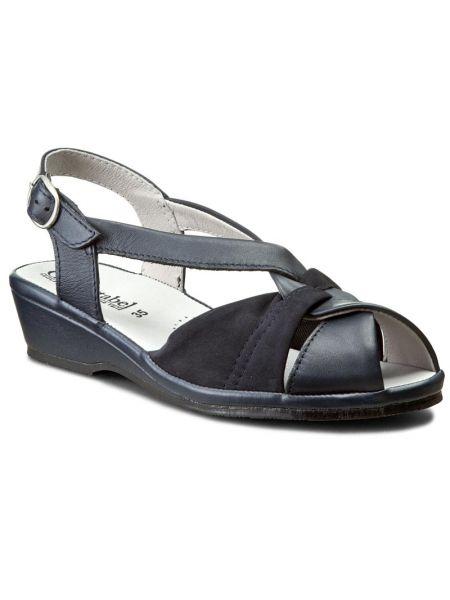 Sandały zamszowe granatowe Comfortabel