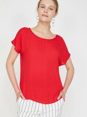 Красная блузка с короткими рукавами Koton