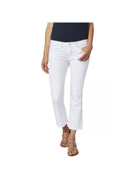 Белые джинсы буткат Pepe Jeans