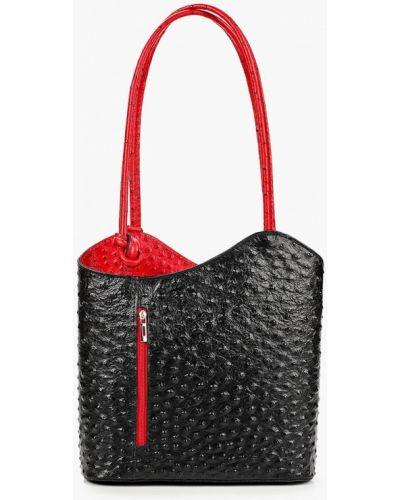 Черная сумка из натуральной кожи Roberta Rossi