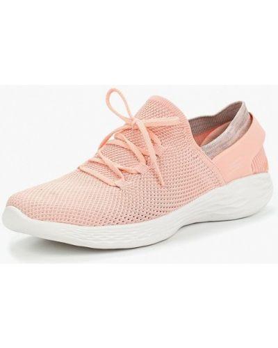 Розовые кроссовки Skechers