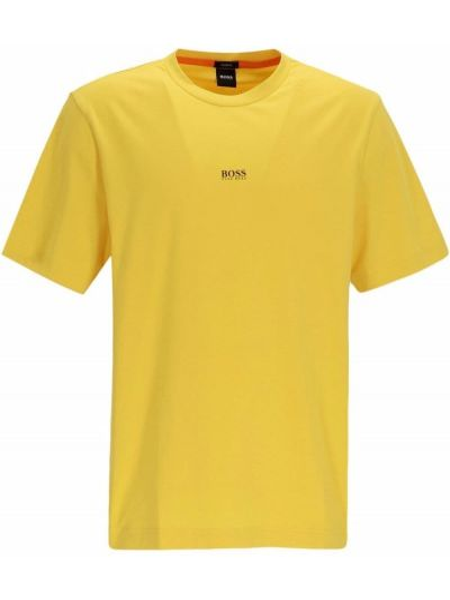 Żółta t-shirt krótki rękaw Boss Hugo Boss