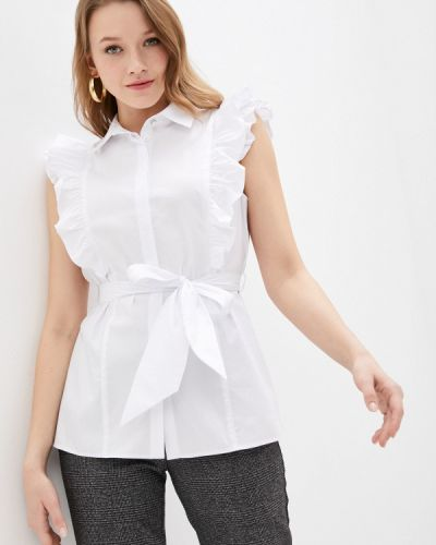 Белая блузка без рукавов Blauz