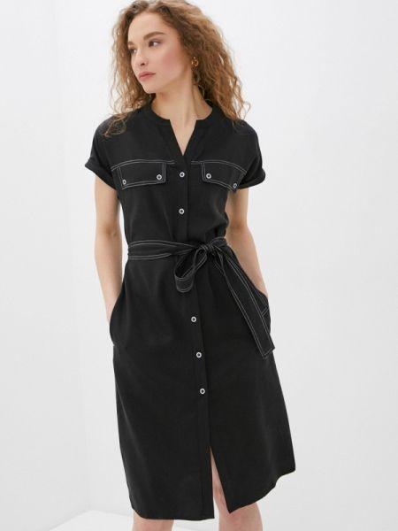 Платье прямое черное Savage