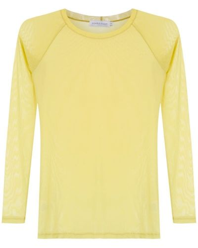 Блузка с вырезом - желтая Mara Mac