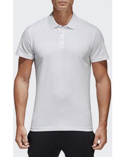 Белое поло Adidas