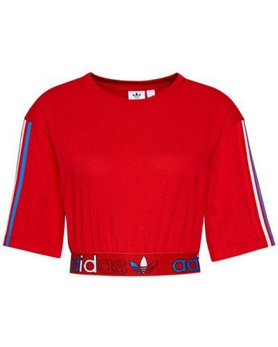 Czerwona bluzka Adidas