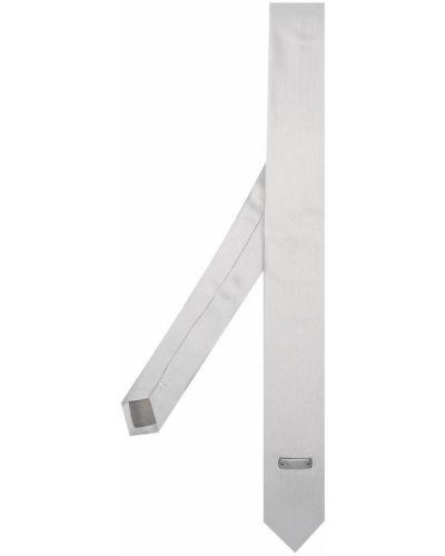 Серебряный галстук металлический Emporio Armani