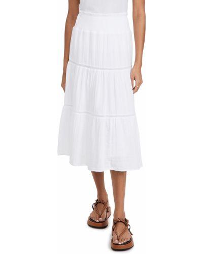 Хлопковая белая юбка на резинке Rails