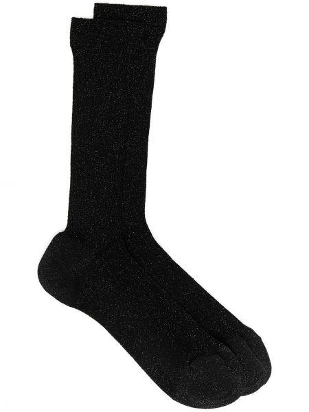 Черные носки в рубчик Missoni