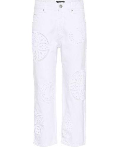 Biały bawełna bawełna jeansy przeoczenie Isabel Marant