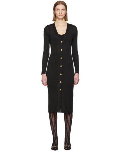 Платье макси на кнопках вязаное Versace