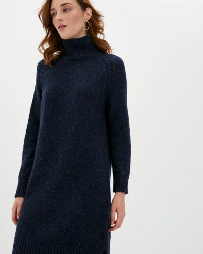 Синее вязаное платье Gant