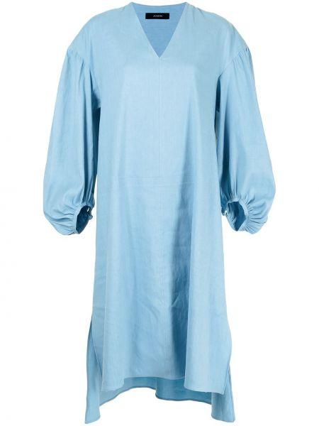 Платье рубашка - синее Joseph
