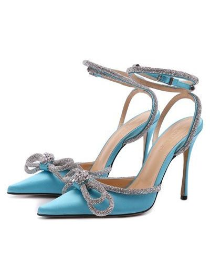 Голубые кожаные туфли Mach & Mach