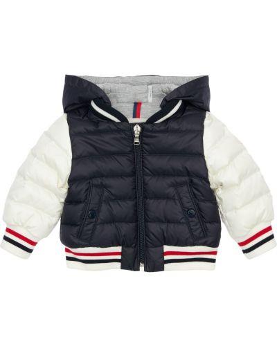 Пуховая куртка с капюшоном в полоску Moncler