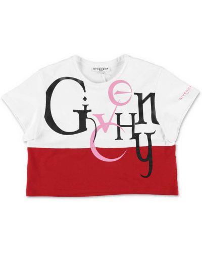 Podkoszulka bawełniana - czerwona Givenchy