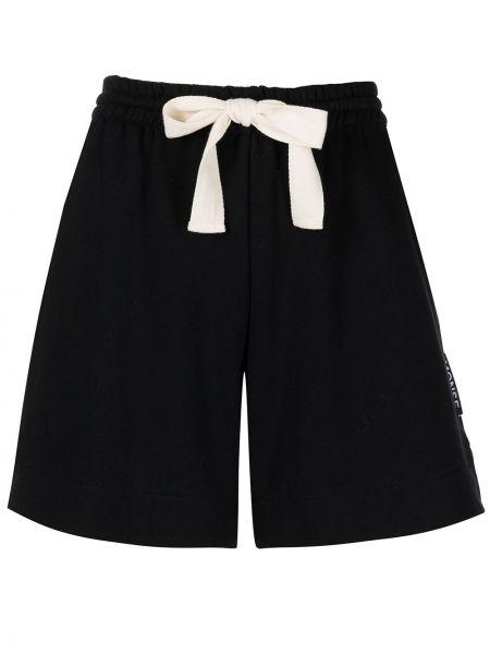 Хлопковые шорты - черные Monse